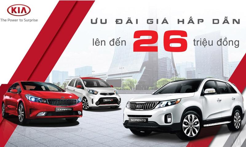 """Loạt xe Kia được giảm giá tại Việt Nam. Thaco vừa triển khai chương trình giảm giá đối với 3 mẫu xe """"ăn khách"""" tại thị trường Việt Nam gồm Kia Morning, Kia Cerato và Kia Sorento. Mức giảm từ 5-26 triệu đồng tùy từng mẫu xe. (CHI TIẾT)"""