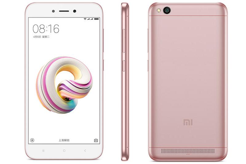 Xiaomi Redmi 5A sử dụng vỏ nhựa nguyên khối. Kích thước của Redmi 5A lần lượt là 140,4x70,1x8,4 mm, trọng lượng 137 g.