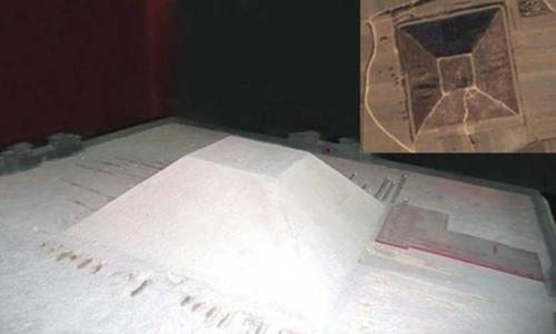 Ảnh minh họa kim tự tháp trắng ở Tây An, Trung Quốc. Ảnh: Ancient Origins.