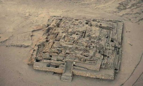 Phần còn sót lại của Đại kim tự tháp Caral, Peru. Ảnh: Christopher Kleihege.