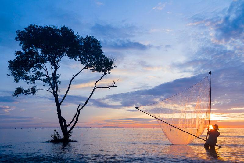 Bãi biển Tân Thành thuộc địa phận xã Tân Thành, huyện Gò Công Đông, tỉnh Tiền Giang. Ảnh: Youvivu.