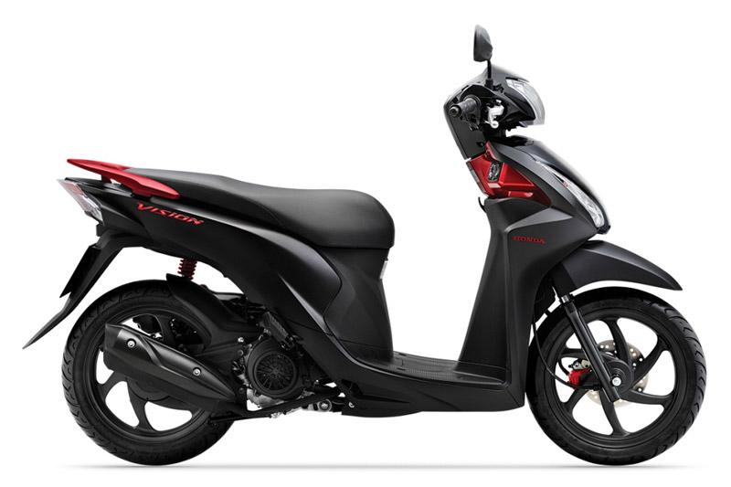 Honda Vision màu đen mờ.