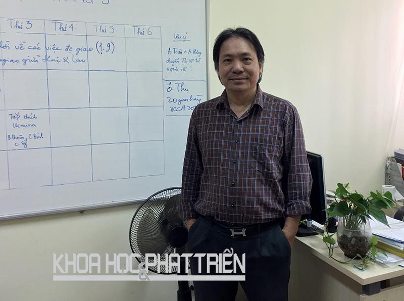 Ông Nguyễn Thái Hưng - Phó Tổng thư ký thường trực Hội Tự động hóa Việt Nam. Ảnh: Ngọc Vũ