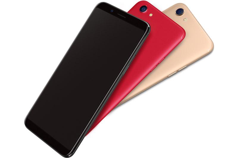 Oppo F5 vẫn sử dụng vỏ kim loại nguyên khối giống như phần lớn các smartphone hiện nay của Oppo. Máy có kích thước 156,5x676x7,5 mm, trọng lượng 152 g.