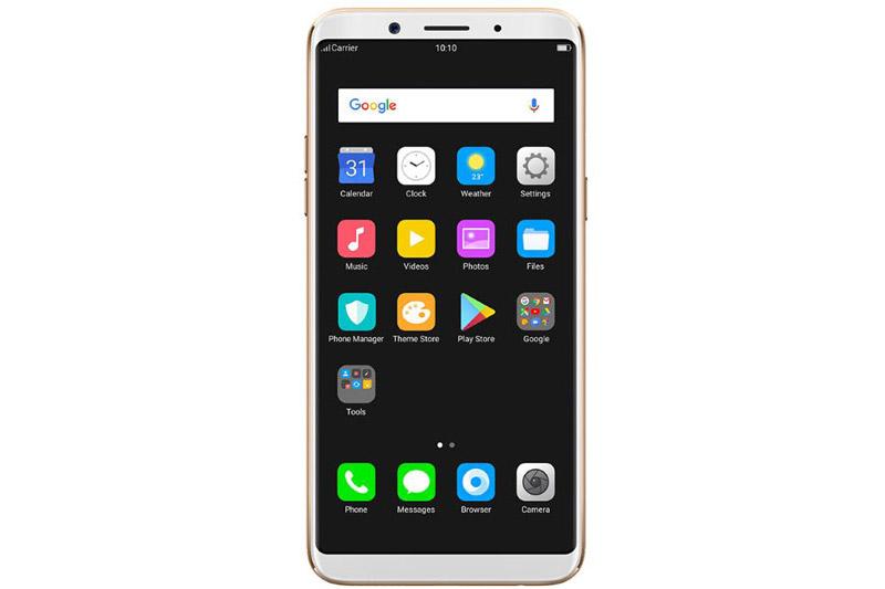 Oppo F5 được trang bị màn hình IPS FullView với kích thước màn hình 6 inch, độ phân giải Full HD (2.160x1.080 pixel), mật độ điểm ảnh 402 ppi. Màn hình này được bảo vệ bởi kính cường lực Corning Gorilla Glass 5 và chia theo tỷ lệ 18:9.