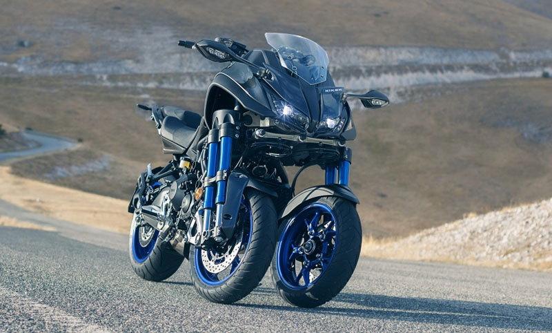 Yamaha Niken Leaning Multi-Wheeler 2018 lộ diện, ba bánh xe, 4 phuộc ngược. Yamaha Niken Leaning Multi-Wheeler (LMW) năm 2018 sẽ chính thức ra mắt tại EICMA 2017 diễn ra tại Ý vào tháng 11 tới. (CHI TIẾT)