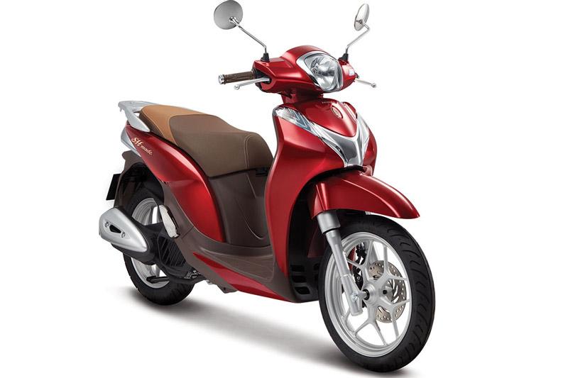 Honda SH Mode 125cc màu đỏ tươi.