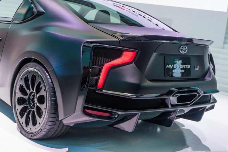 Đèn hậu của Toyota GR HV Sports Concept lấy cảm hứng từ Toyota 86 và TS050 LMP1.