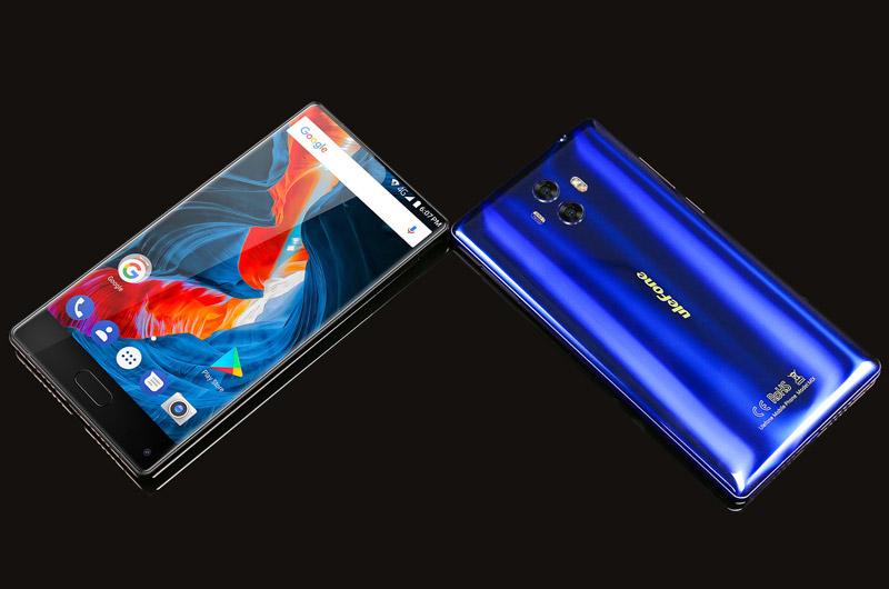 Ulefone MIX sử dụng khung kim loại, 2 bề mặt phủ kính cường lực Corning Gorilla 3. Kích thước của máy lần lượt là 143x75x8,7 mm, trọng lượng 173 g.