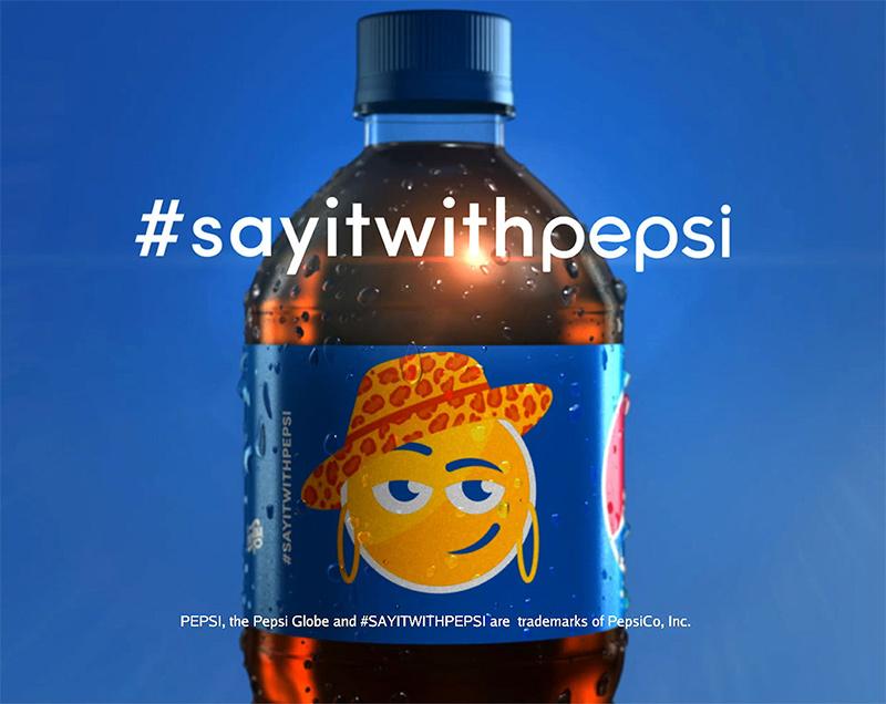 Pepsi thực hiện một chiến dịch quảng cáo với hashtag nhãn hiệu #SayitwithPepsi. Ảnh: Effie