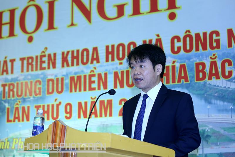 Ông NGuyễn Kim Tuấn phát biểu tại hội nghị. Ảnh: Lê Loan.