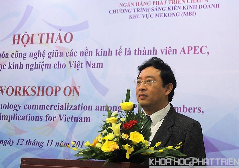 Ông Phạm Hồng Quất phát biểu tại hội thảo