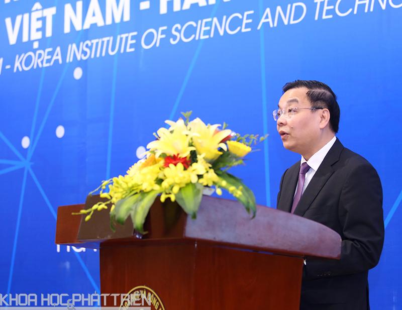 Bộ trưởng Chu Ngọc Anh phát biểu tại sự kiện. Ảnh: Văn Nguyên.