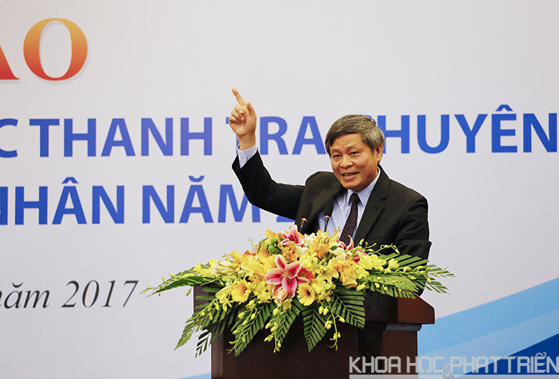 Thứ trưởng Phạm Công Tạc phát biểu tại hội thảo.