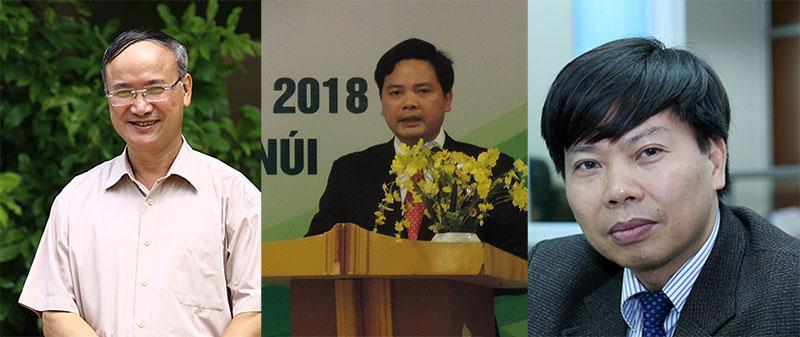 Từ trái sang: TS Nguyễn Văn Liễu, ông Nguyễn Thế Ích, ông Nguyễn Đức Kiên