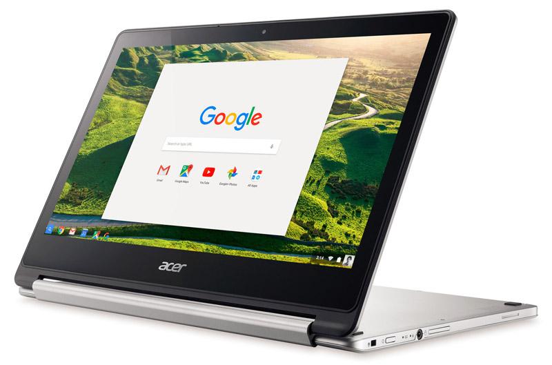 1. Acer Chromebook R13 (thời lượng pin: 13 giờ 2 phút).