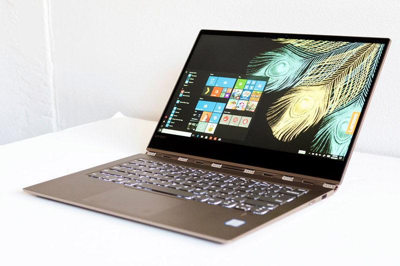 2. Lenovo Yoga 920 (thời lượng pin: 12 giờ 50 phút).
