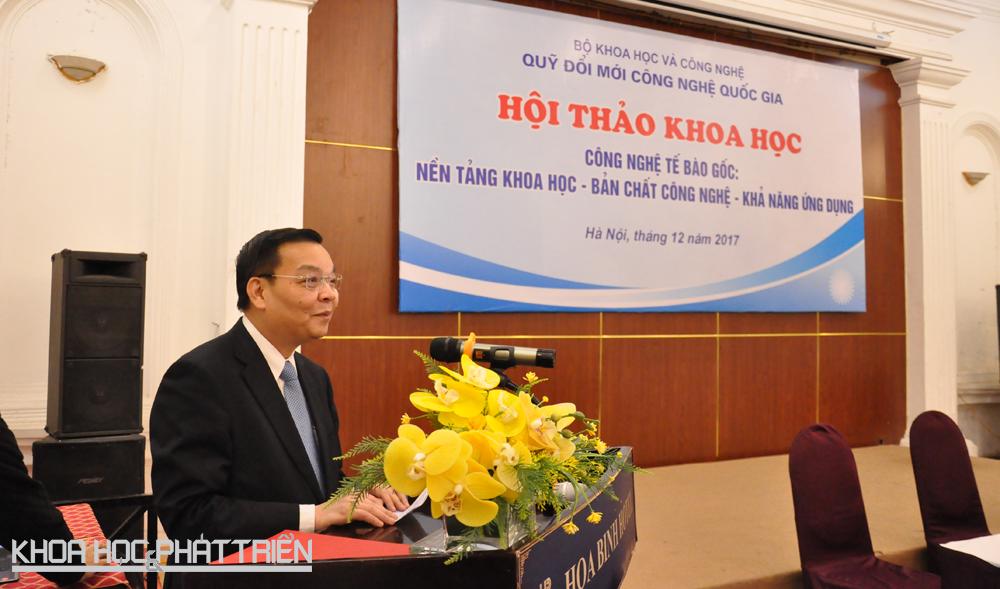 Bộ trưởng Chu Ngọc Anh phát biểu tại hội thảo.