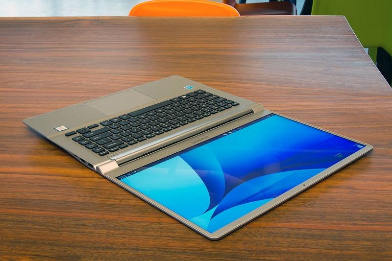 =3. Samsung Notebook 9 (thời lượng pin: 12 giờ 16 phút).