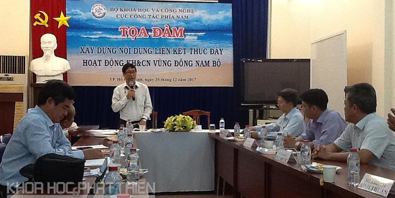 Ông Lê Minh Khánh - Phó Cục trưởng Cục Công tác phía Nam chủ trì Tọa đàm