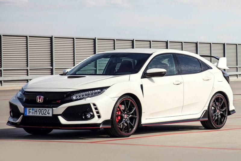 =6. Honda Civic Type R 2018 (thời gian tăng tốc từ 0-100 km/h: gần 5 giây).