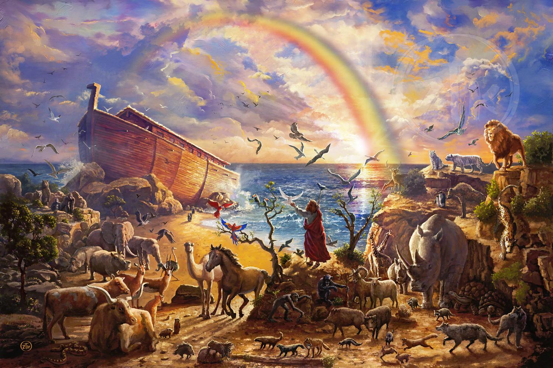 Con tàu Noah vượt đại hồng thủy được nhiều người tin là sự kiện lịch sử có thật. Ảnh: CV Art and Frame