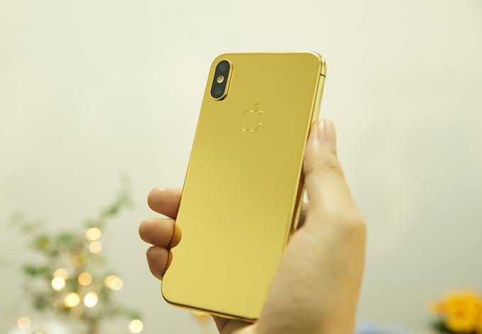 Phiên bản mạ vàng 24K được Golden Gift, một hãng chế tác ngay tại Việt Nam, làm ra. Tuy nhiên, việc tạo ra iPhone X mạ vàng được cho là khó khăn và mất thời gian hơn nhiều các đời iPhone trước. Vì máy không dùng vỏ kim loại nguyên khối mà có mặt lưng làm từ kính.