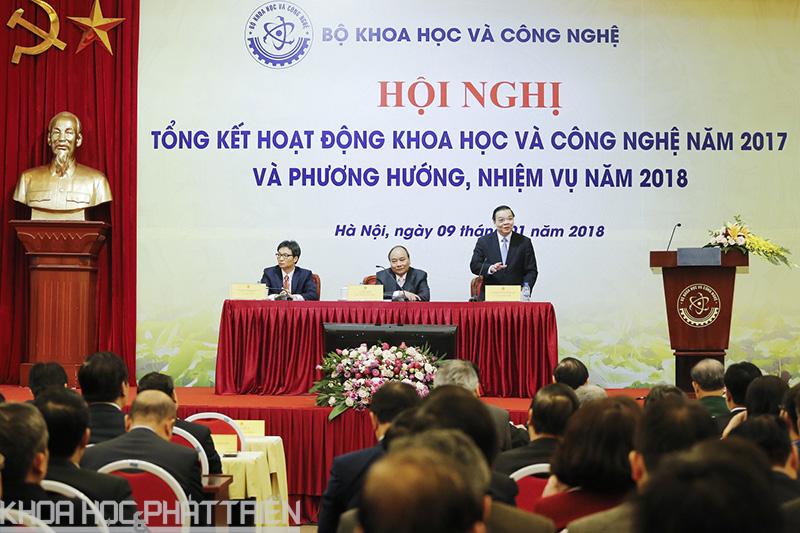 Bộ trưởng Chu Ngọc Anh phát biểu tại hội nghị.