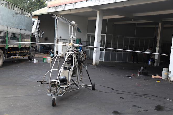 Máy bay tự chế đã hoàn thành hệ thống máy và bộ khung