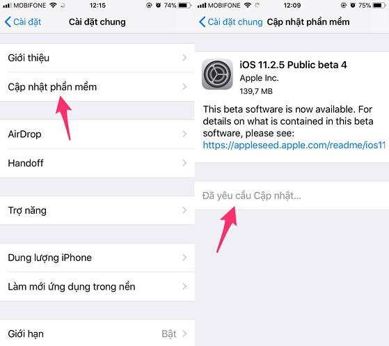 iOS 11.2.2 đã có sẵn cho người dùng các thiết bị iOS. Ảnh: TIỂU MINH