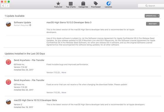 Cập nhật macOS 10.13.3 để vá lỗ hổng Spectre và Meltdown. Ảnh: TIỂU MINH