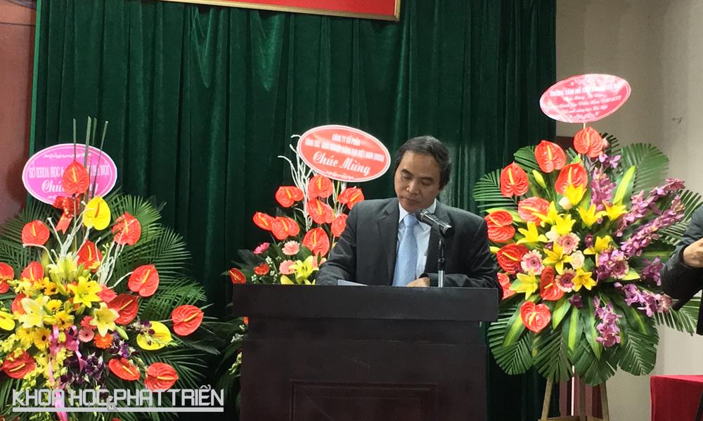 Ông Vũ Tấn Cương phát biểu tại lễ kỷ niệm. Ảnh: NV
