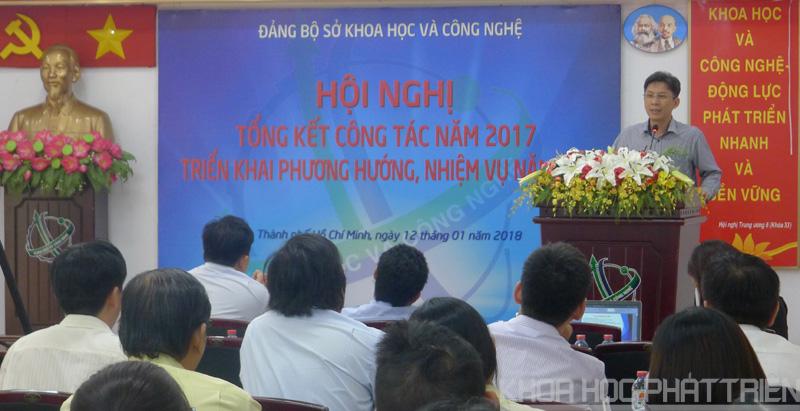 Ông Nguyễn Việt Dũng - Giám đốc Sở KH&CN TPHCM