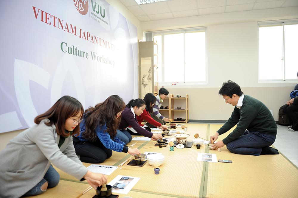 Trà đạo Nhật Bản. Ảnh: VJU cung cấp