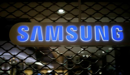 Biểu tượng Samsung tại trụ sở hãng ở Seoul, Hàn Quốc. Ảnh: Reuters