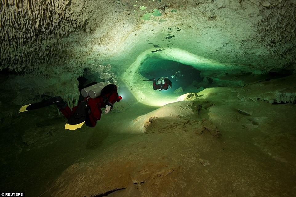 Hang động tuyệt đẹp trên còn giúp các nhà khoa học nghiên cứu về nền văn minh Maya. (Nguồn: Reuters)