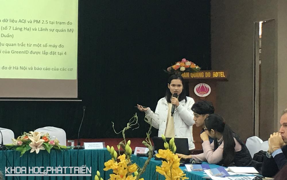 Bà Nguyễn Anh Thư trình bày báo cáo tại hội thảo. Ảnh: NV