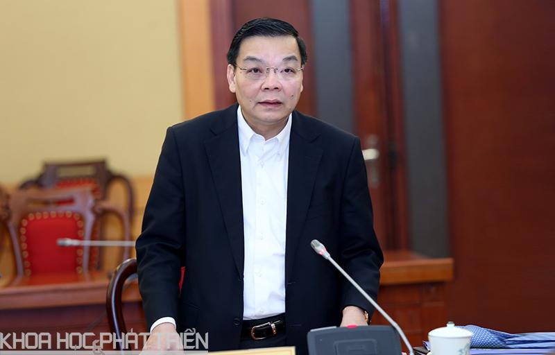 Đồng chí Chu Ngọc Anh, Ủy viên Trung ương Đảng, Bí thư Ban cán sự Đảng, Bộ trưởng Bộ KH&CN phát biểu tại hội nghị