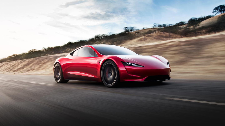 Chiếc Tesla Roaster mà Falcon Heavy sẽ mang lên vũ trụ. Ảnh: Tesla