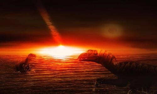 Vụ va chạm thiên thạch Chicxulub tại Yucatan (Mexico) khiến những ngọn núi lửa dưới đáy biển phun trào, góp phần làm 3/4 số loài trên Trái Đất bị tuyệt chủng. Ảnh: Getty.