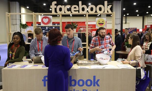 Gian hàng Facebook tại Hội nghị Hành động Chính trị Bảo thủ (CPAC), một sự kiện lớn của đảng Bảo thủ. Hình ảnh: Chip Somodevilla / Getty Images