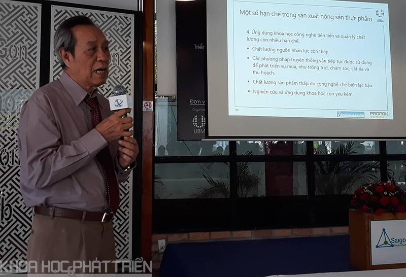 GS.TS. Lưu Duẩn chia sẻ một số thông tin về ngành công nghiệp thực phẩm