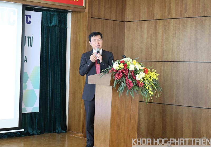 Ông Hà Mạnh Hùng phát biểu tại lễ trao chứng nhận đầu tư. Ảnh: Bích Ngọc.