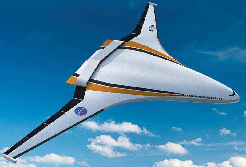 Mẫu concept N3-X, máy bay lai sử dụng động cơ chạy bằng máy phát điện tua bin khí.