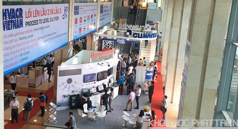 Nhiều công nghệ, thiết bị mới được giới thiệu tại triển lãm.
