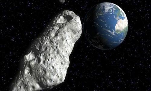 Tiểu hành tinh 2018 GE3 bay lướt qua Trái Đất hôm 16/4. Nguồn: Texas A&M.