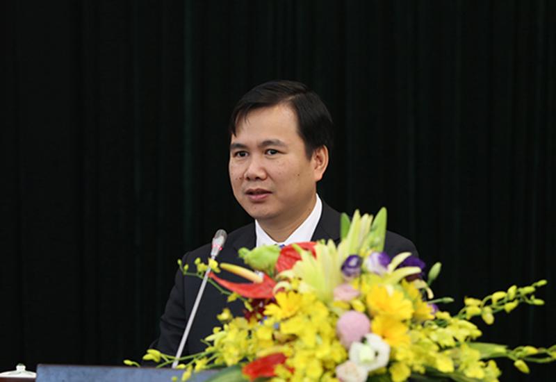 Đồng chí Bùi Thế Duy – tân Thứ trưởng Bộ KH&CN phát biểu nhận nhiệm vụ. Ảnh: Văn Nguyên (TTTT)