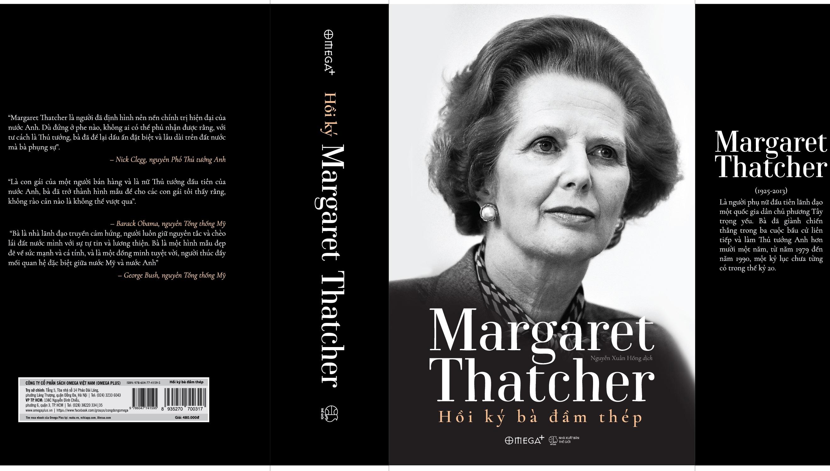 """Cuốn hồi ký """"Margaret Thatcher - Hồi ký Bà đầm thép"""""""