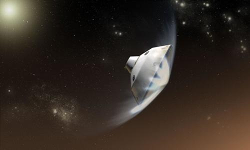 NASA dự định đưa xe thám hiểm với tấm chắn bảo vệ đáp xuống hành tinh đỏ. Ảnh: NASA/JPL-Caltech.