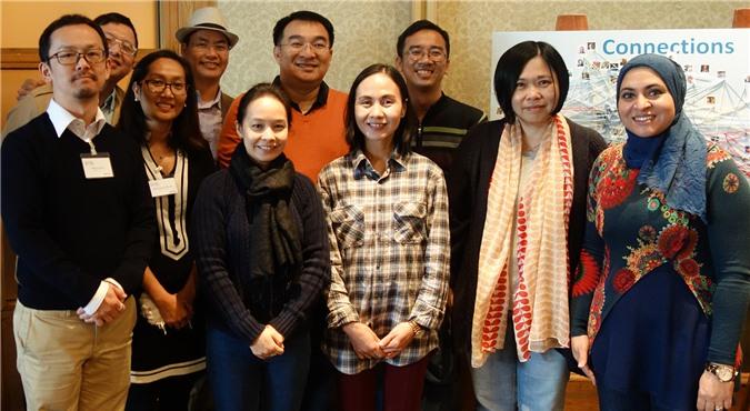 Đoàn đại biểu đại diện Campuchia, Nhật Bản, Malaysia, Philipines, Đài Loan, Thái Lan và Việt Nam đến dự hội nghị thường niên của Viện Hàn lâm Khoa học trẻ Toàn cầu.